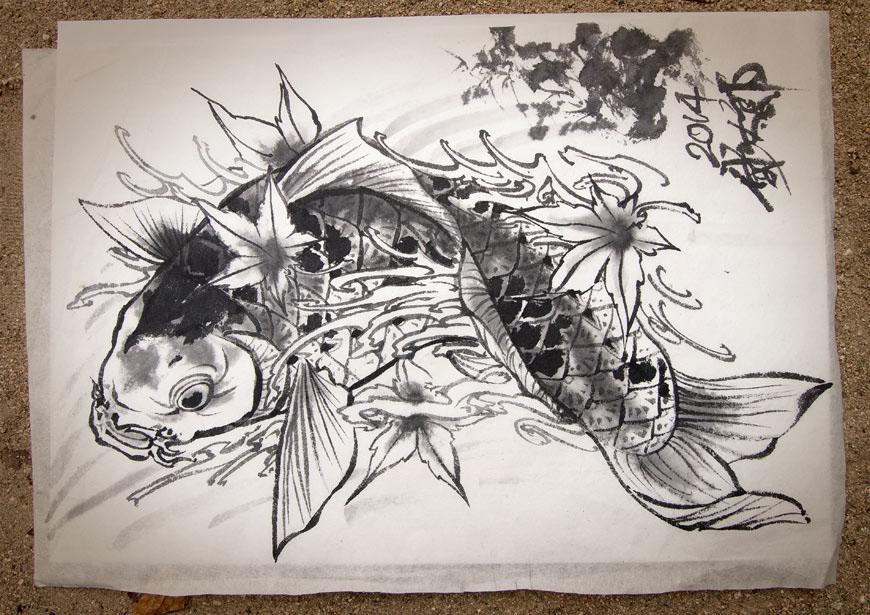 dessin à l'encre de chine par Horitaro