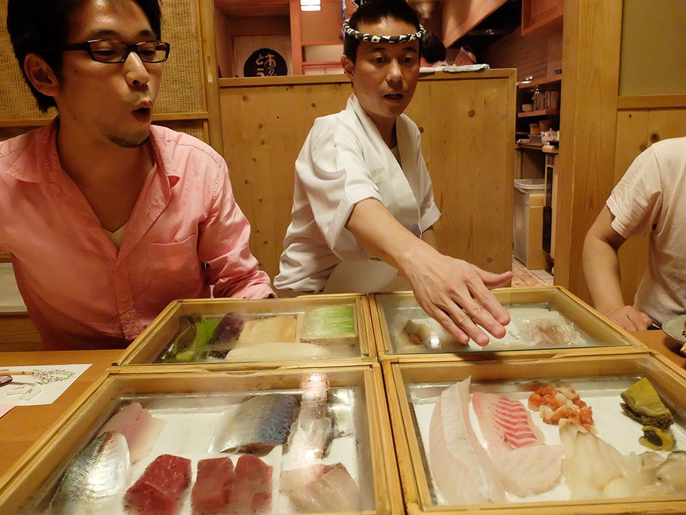 présentation de sushis