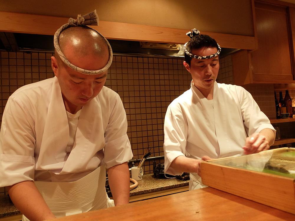 sushi chefs à Hiroshima