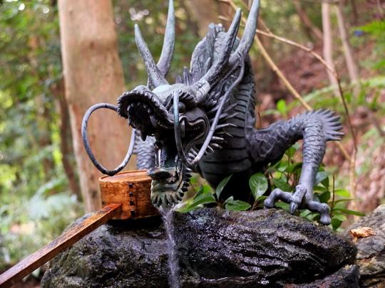 Dragon de fontaine à Mitaki