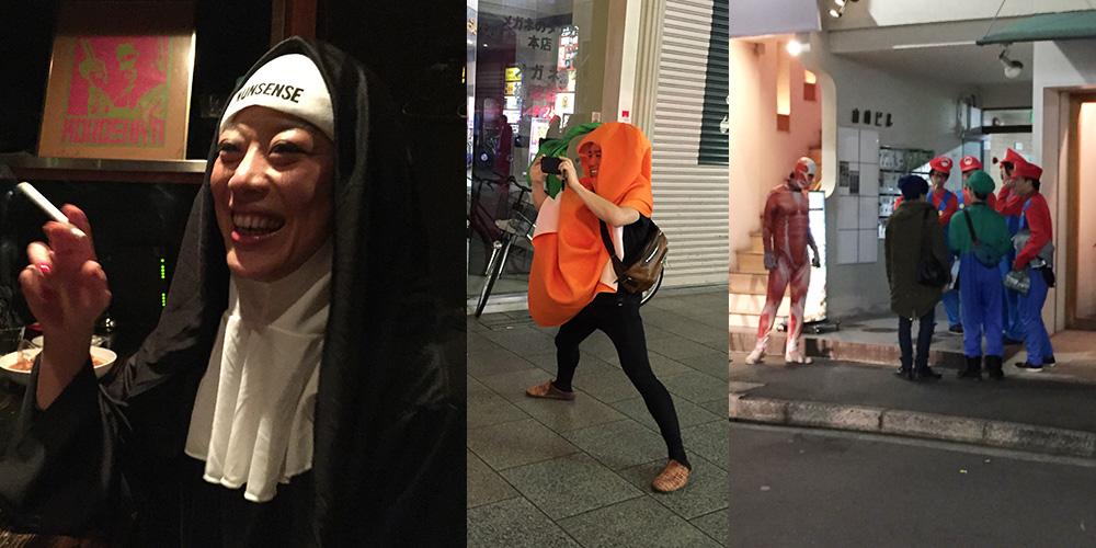 halloween, bonne soeur, carotte et mario