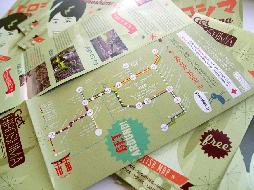 Carte GetHiroshima 2014 carte des transports