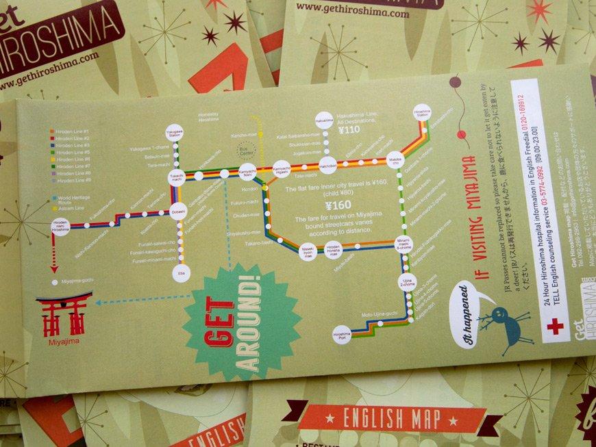Carte GetHiroshima 2014 Carte du tram