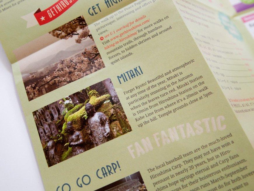 Carte GetHiroshima 2014 section tourisme