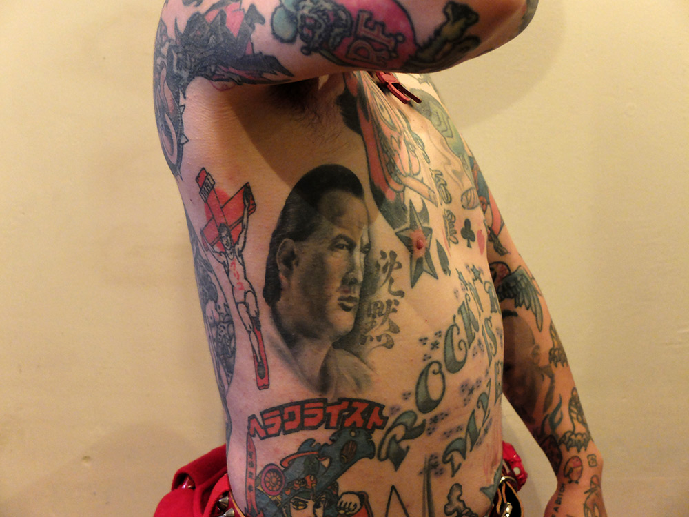 Tatouage Steven Seagal