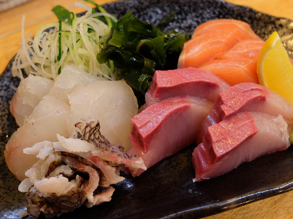 assortiments sashimis Ganko Yatai Hiroshima