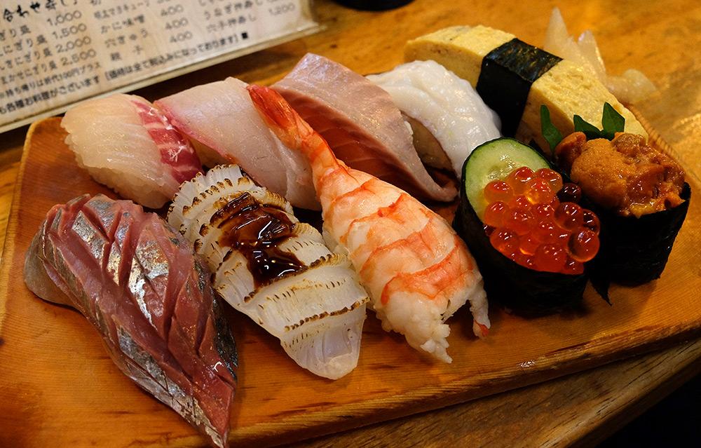 assortiment de sushi Ganko Yatai