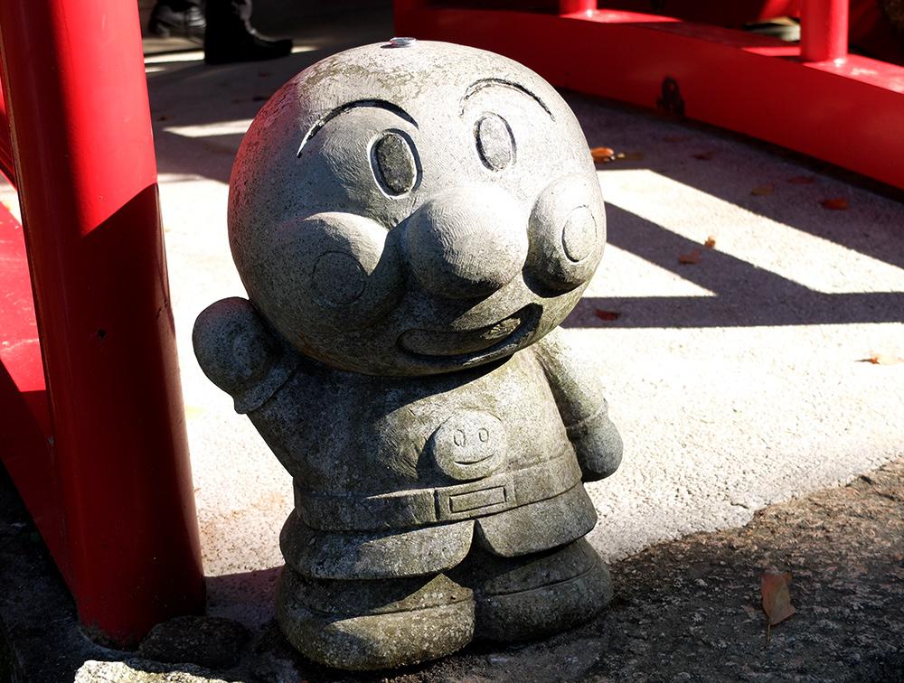Statue anpanman à Miyajima