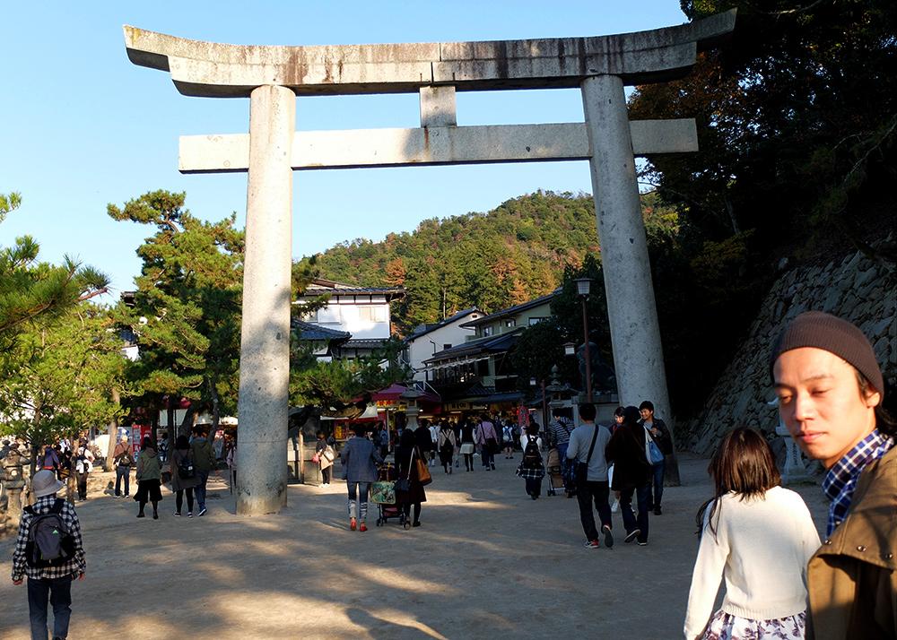 Miyajima, torii de pierre