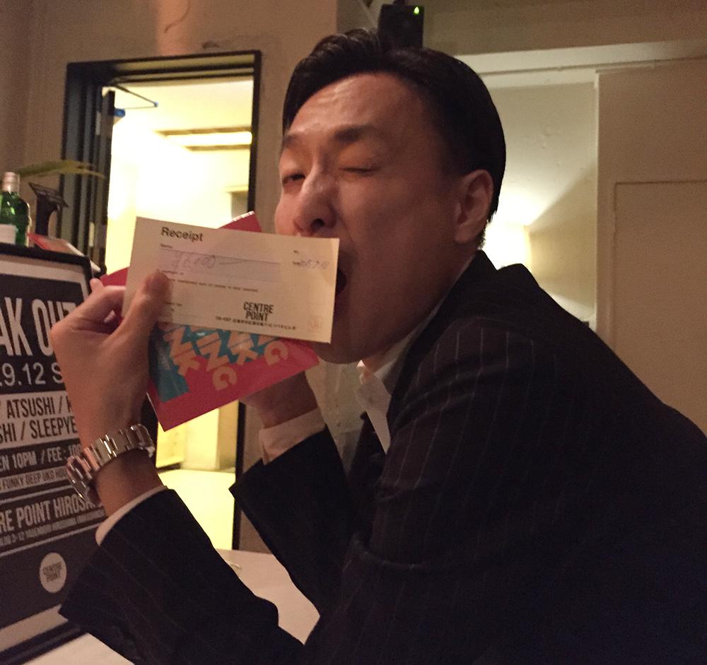 Un pote en mode salaryman.