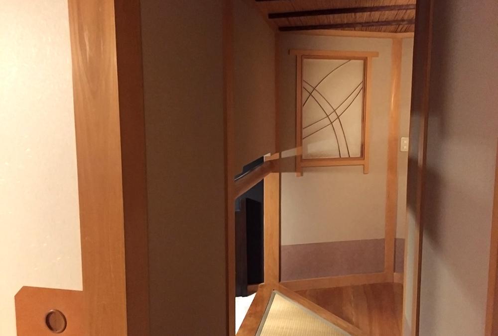 chambre de ryokan, Ichizen, Yufuin, entrée