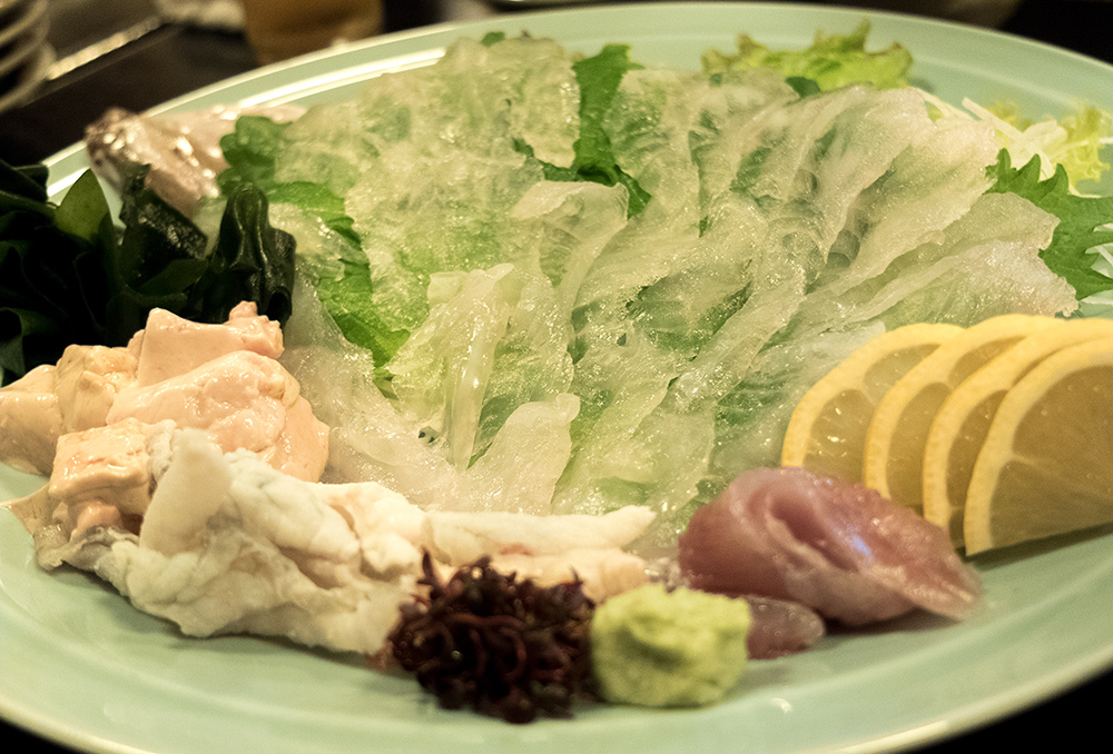Sashimis de kawahagi