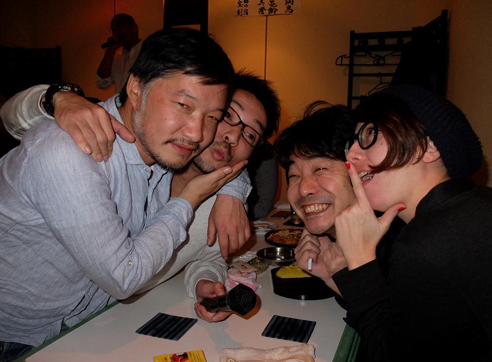 L'équipe Nininbaori à Okame, Hiroshima