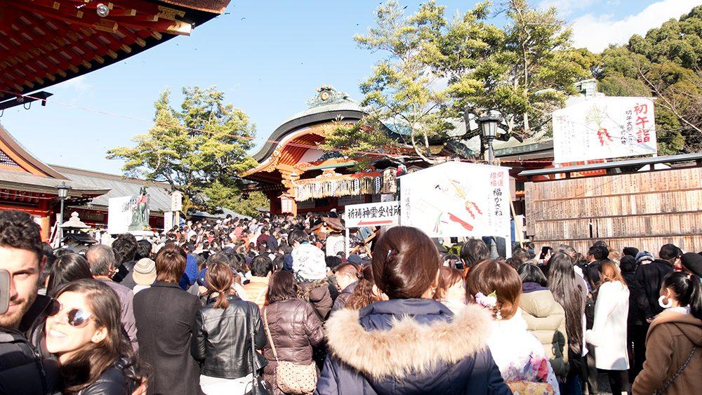 Sanctuaire Fushimi Inari, Kyoto, 1er Janvier