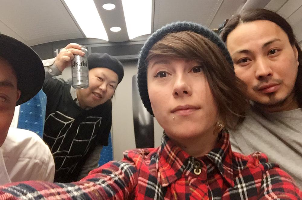 dans le Shinkansen en route pour Kyoto