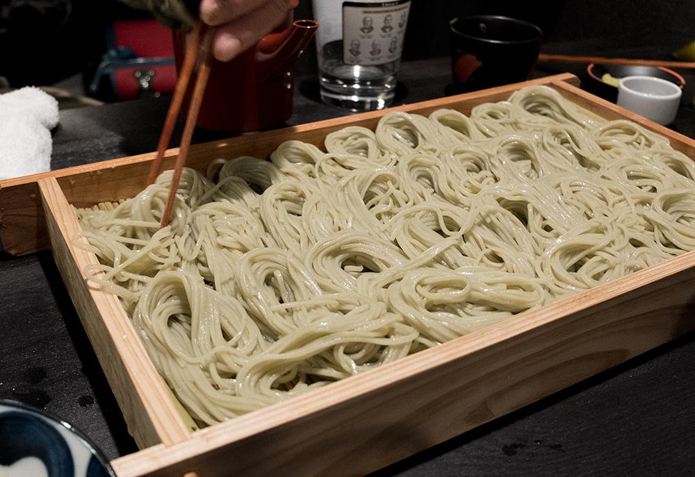 hegi soba, nouilles de sarrasin de la région de Niigata, izakaya Aitsuki あい月 Hiroshima