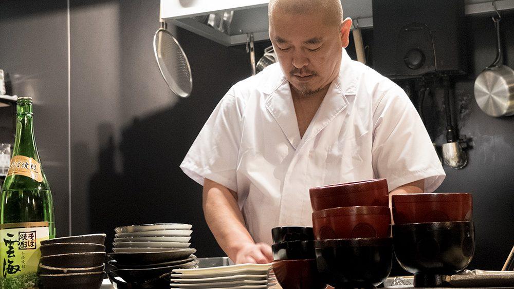 Take, le patron et chef-cuisinier de l'izakaya Aitsuki あい月 Hiroshima