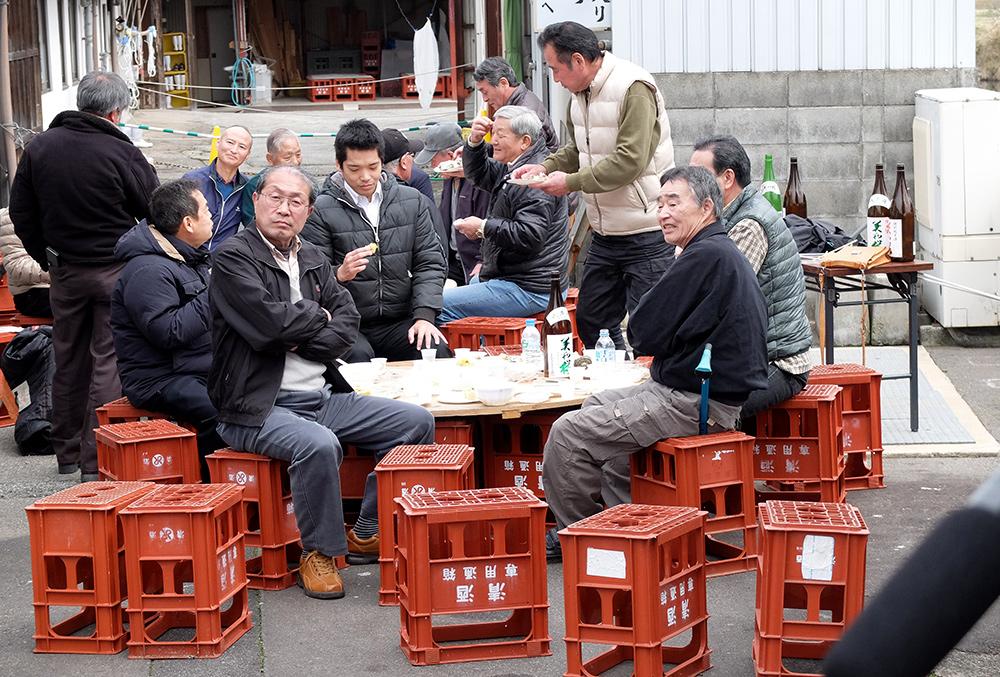 Vieux Japonais dans un matsuri