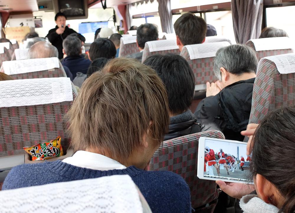 dans le bus au Japon