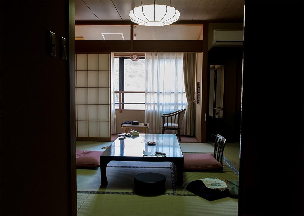 Chambre de ryokan à Yama-no-i, Préfecture de Shimane
