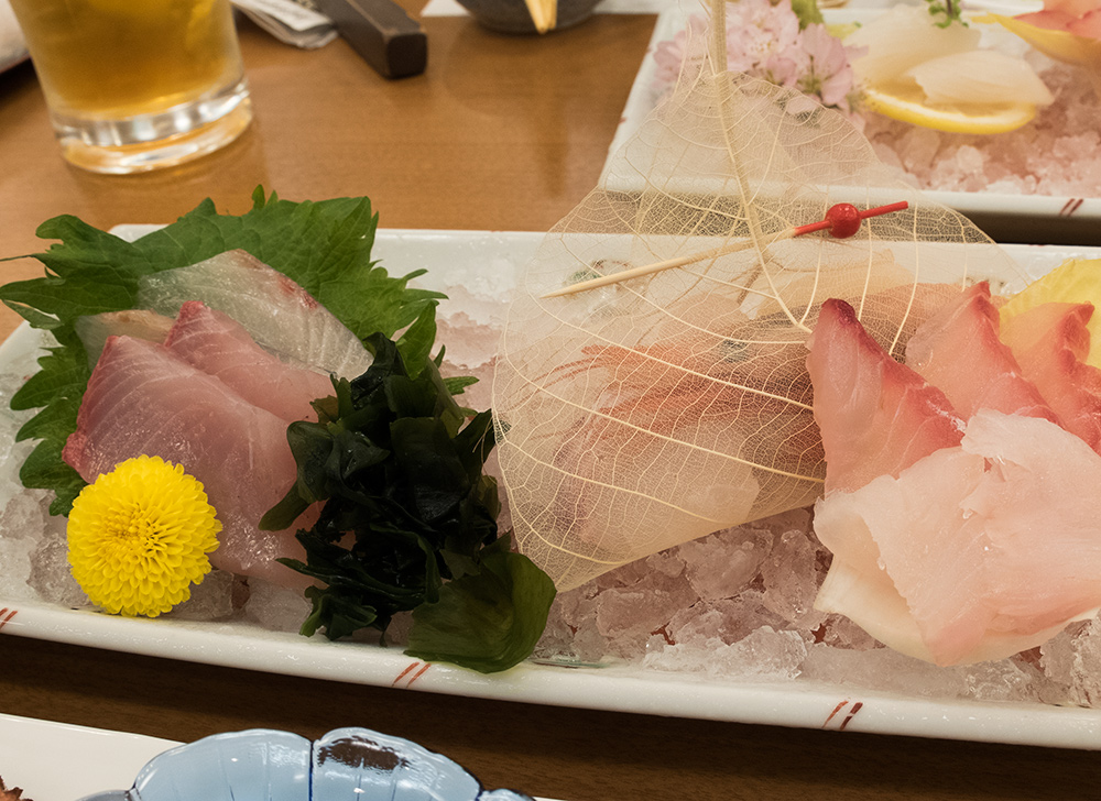 お造 (o-tsukuri, Sashimi de Kaiseki Ryori), repas de ryokan