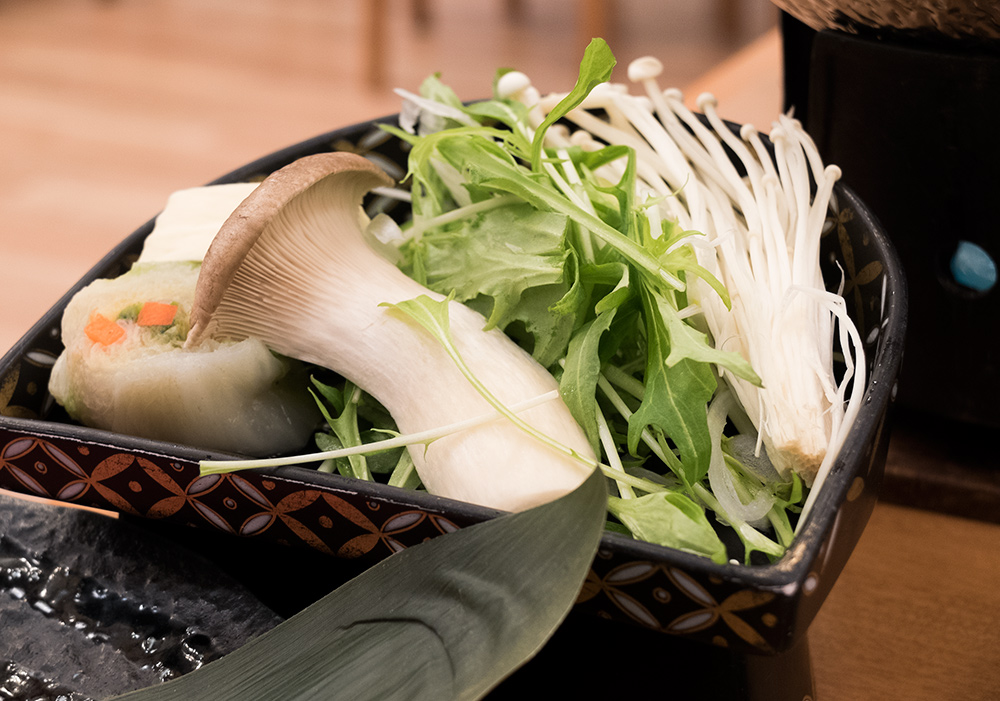 Les légumes du shabu-shabu