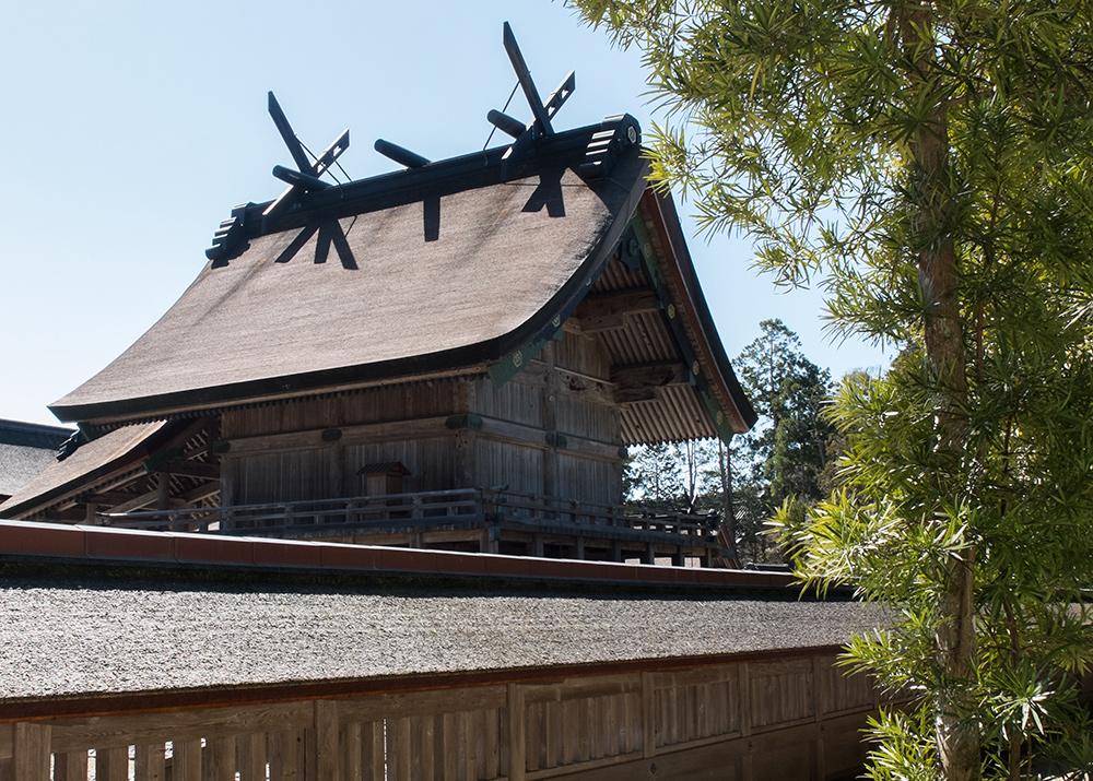 une partie du honden du sanctuaire Izumo Taisha