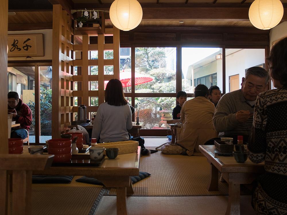 intérieur de Yakumo (八雲), restaurant d'Izumo Soba
