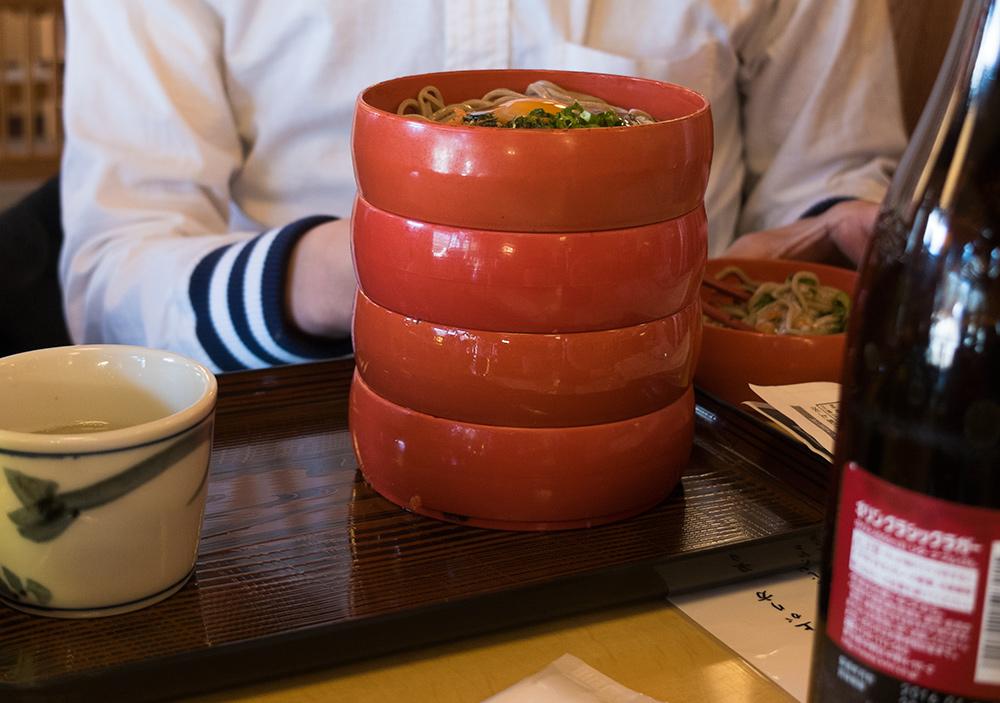 godan-warigo (五段割子) - soba à 5 étages, Izumo soba