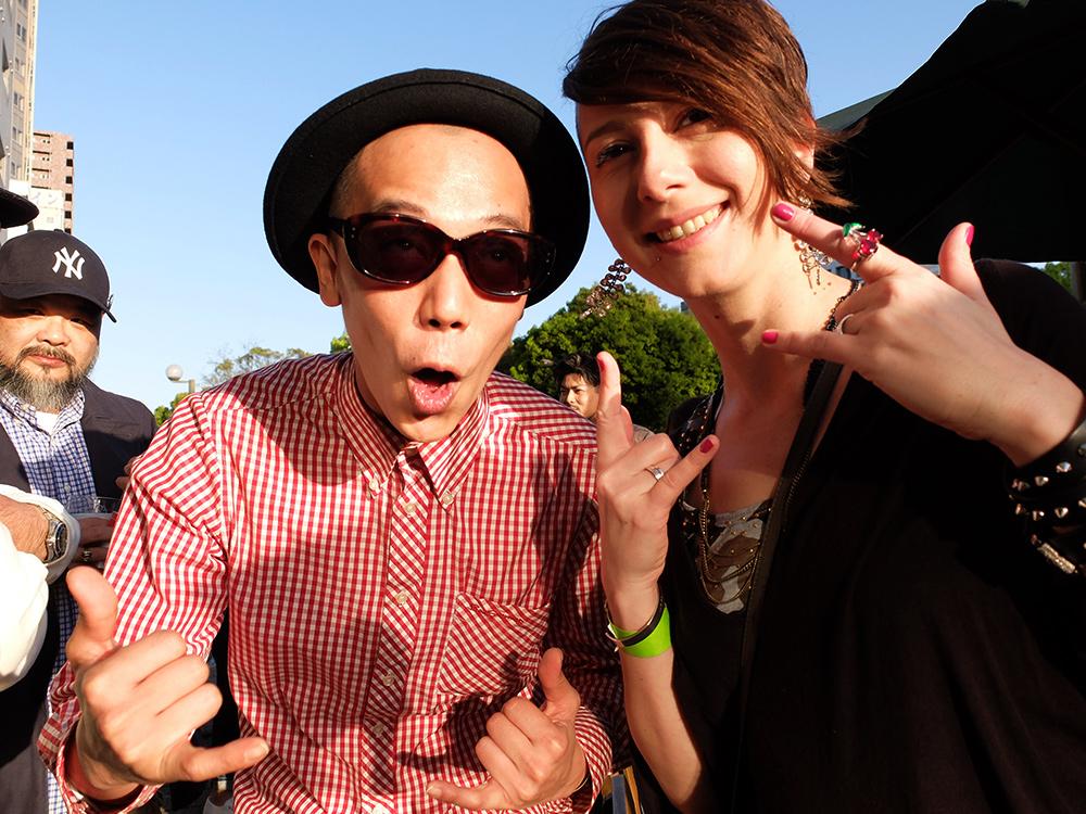 portraits de gens d'Hiroshima : fête à Hiroshima, couple franco-japonais