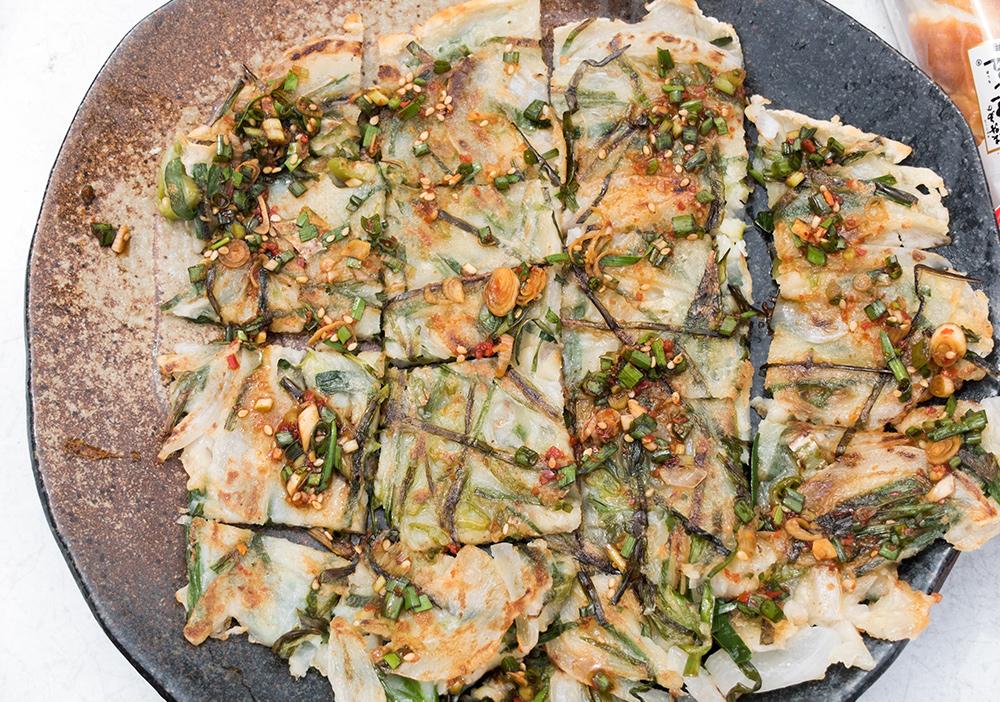 Un autre plat emblématique de la cuisine coréenne, le chijimi