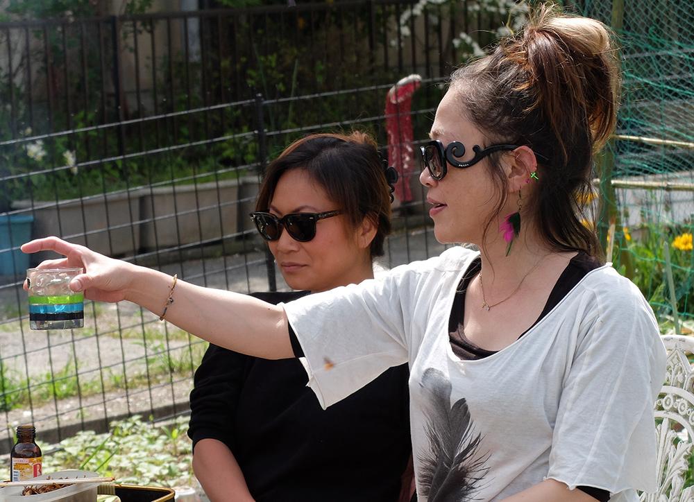 Ai et Shiho, barbecue, Kanawajima, Hiroshima