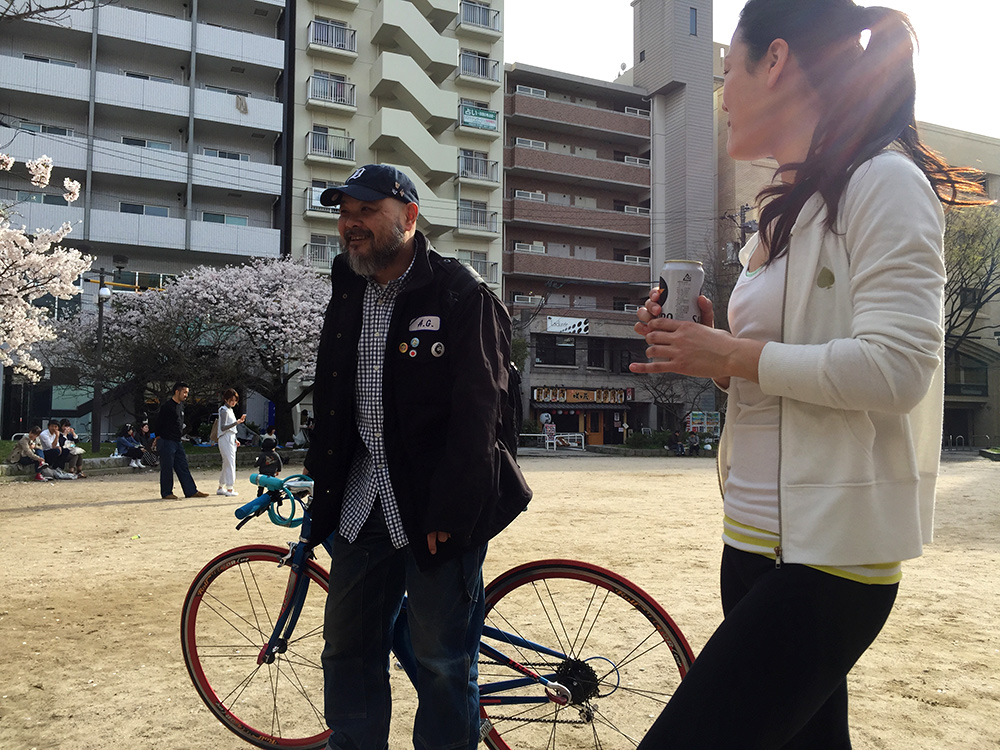 Eiji et Kotoe, hanami, Hiroshima