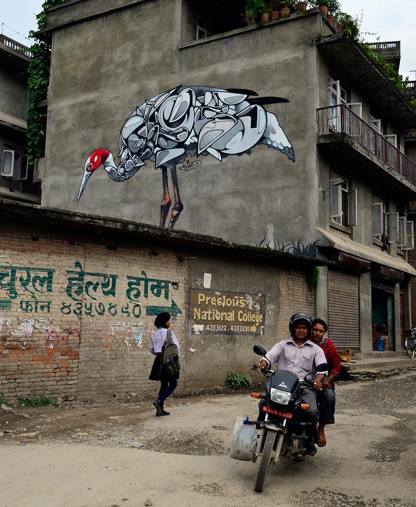 Fresque de Suiko au Népal, 2013