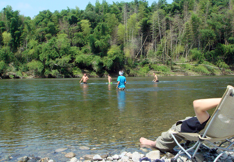 C'était cool d'aller se baigner à la fraîche dans la rivière...
