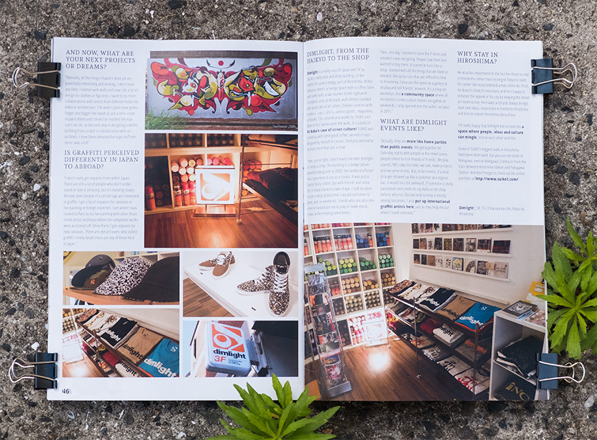 Article paru dans GetHiroshima mag 10 sur Suiko
