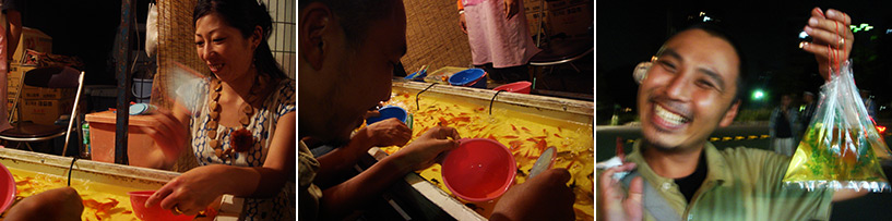 pêche au poisson rouge matsuri