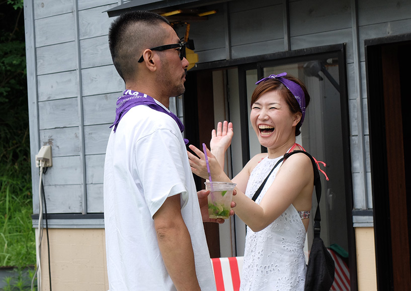 Couple japonais Pool Party Hamada