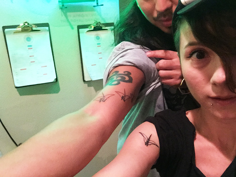 tatouages grue origami paix Hiroshima