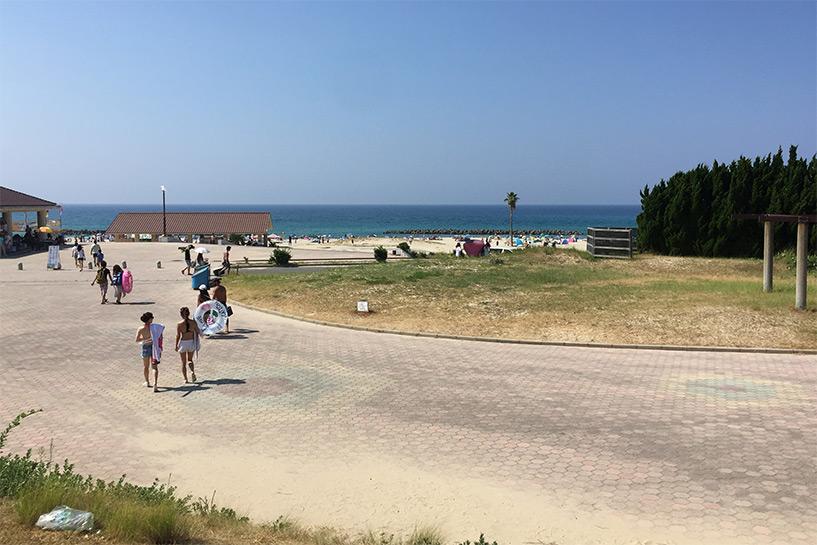 plage camping Hamada Japon