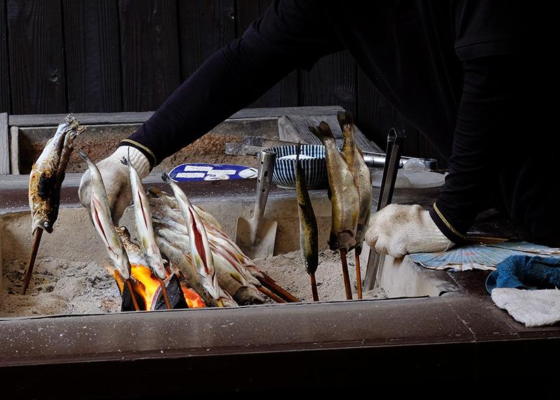 truites grillées Sandankyo Japon