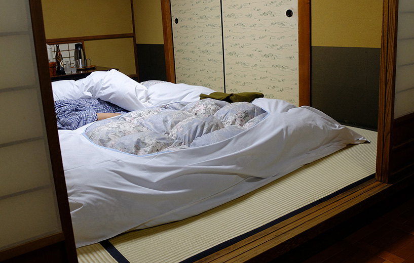 futons au ryokan