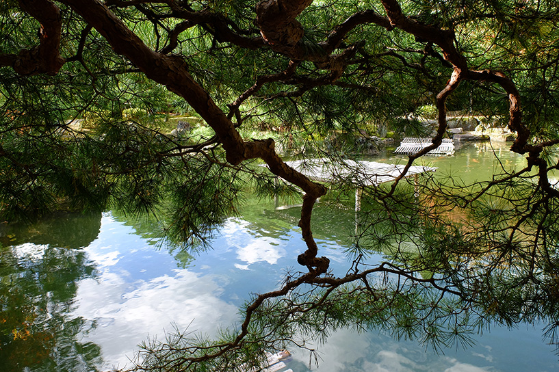 jardin du ryokan Sansuien, Yudaonsen