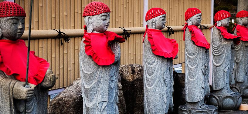 Statues jizo, temple Shoko-ji, Hiroshima