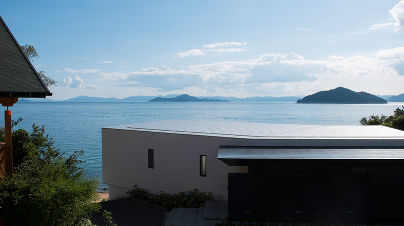 Vue sur la mer intérieure de Seto depuis la terrasse, Etajima