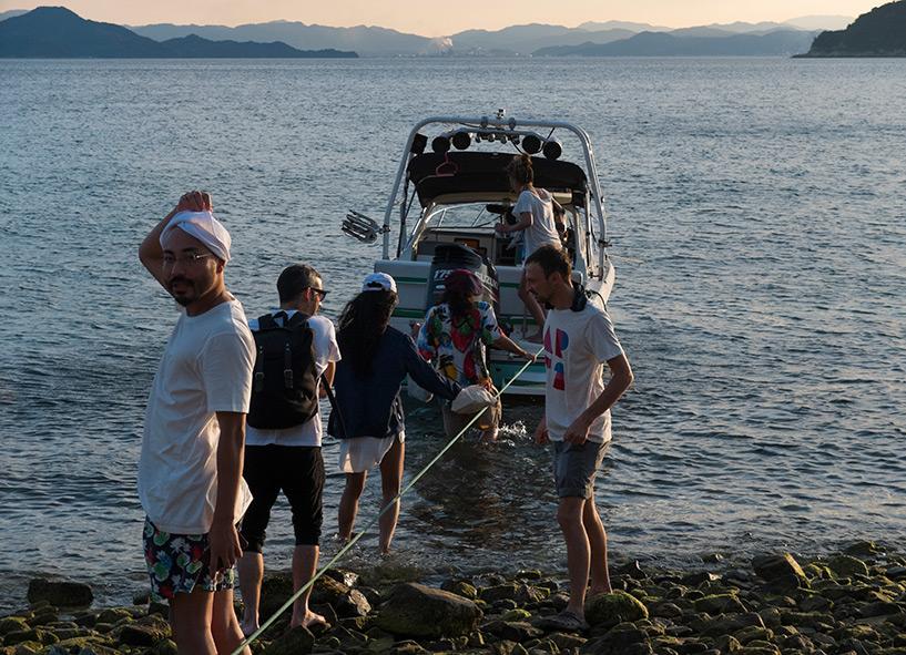 embarquement sur un bateau, Etajima, mer intérieure de Seto, Setonaikai