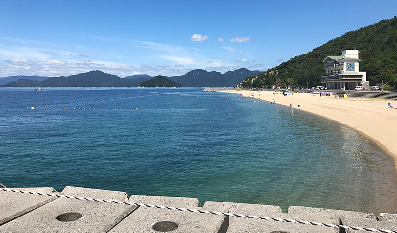 Sun Beach Okimi, Etajima, plage dans la prefecture d'Hiroshima