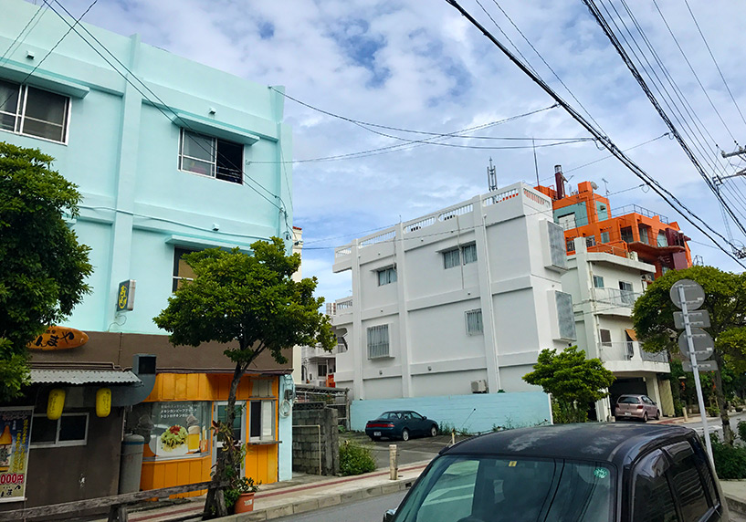 Immeubles colorés, Naha, Okinawa