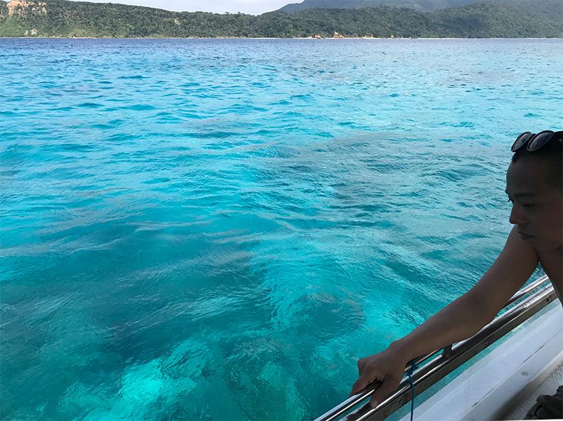 eau bleu turquoise d'Iriomote, Okinawa