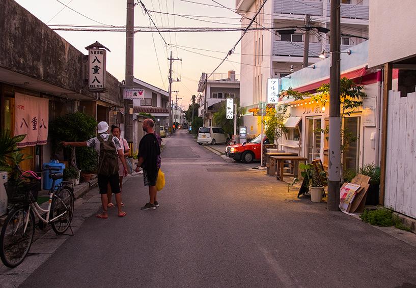 ruelles d'Ishigaki le soir